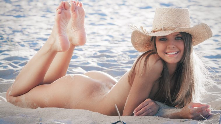 This Years Model Michelle Jean in Black Bikini Beach 13