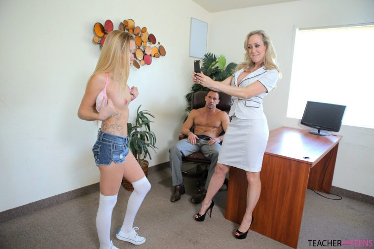 Teacher Fucks Teens Brandi Love & Hollie Mack in Teacher Gets Caught 8
