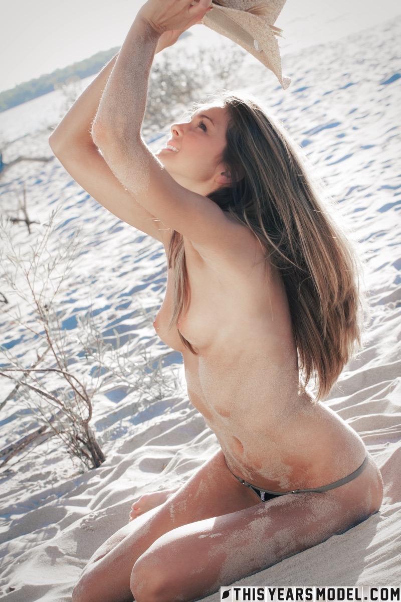 This Years Model Michelle Jean In Black Bikini Beach -4024