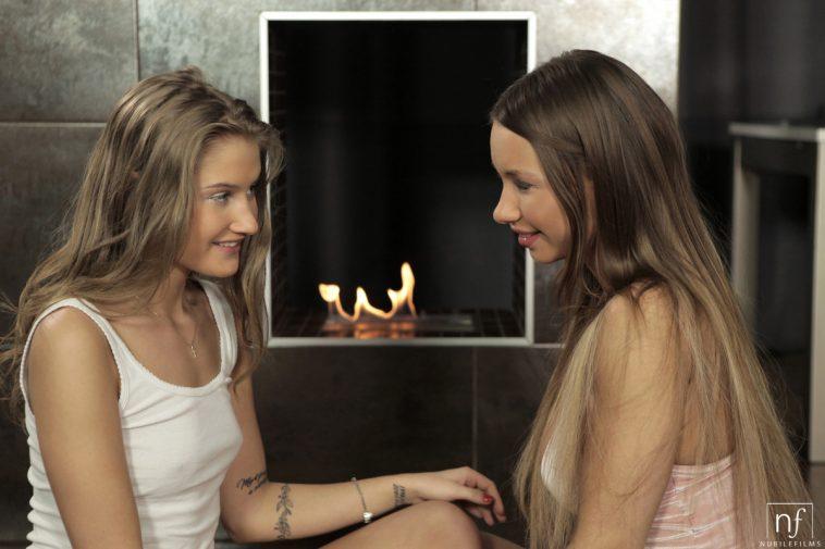 Nubile Films Taylor Sands & Tiffany Tatum in Lesbian Romance 17