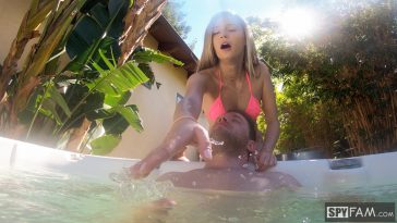 Spy Fam Carolina Sweets - Horny Stepsis Gives Stepbro A Hot Tub Hand Job 7