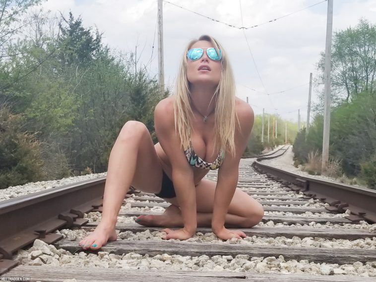 meet madden bikini railway tracks 6