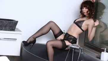 ariel rebel in sexy black lace 5