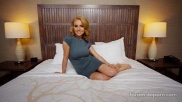 Pretty Blonde In Blue Dress 01
