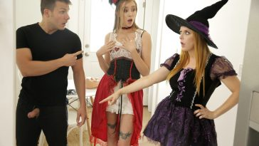haley reed penny pax in brothers dick trick or treat