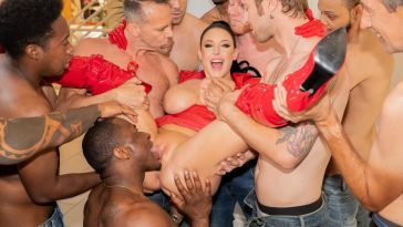 swarmed by 13 guys angela white does her biggest blowbang ever 3
